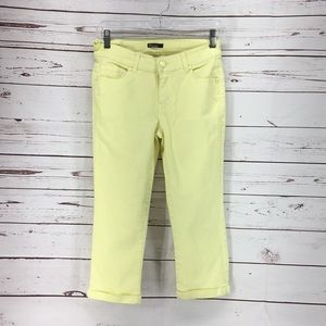 Reve Yellow Cropped Skinny Jeans